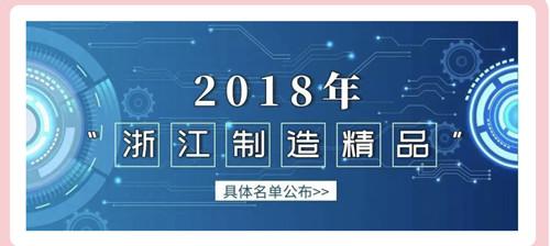 "Congrats to be awarded"" ZHEJIANG Top Manufacturing Brand"""